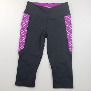 Victoria's Secret Sport Pink and Black Capri Legg